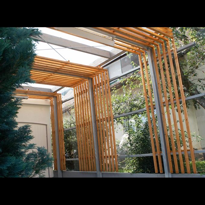 stahl glas carport in sindelfingen mrm a architekt. Black Bedroom Furniture Sets. Home Design Ideas