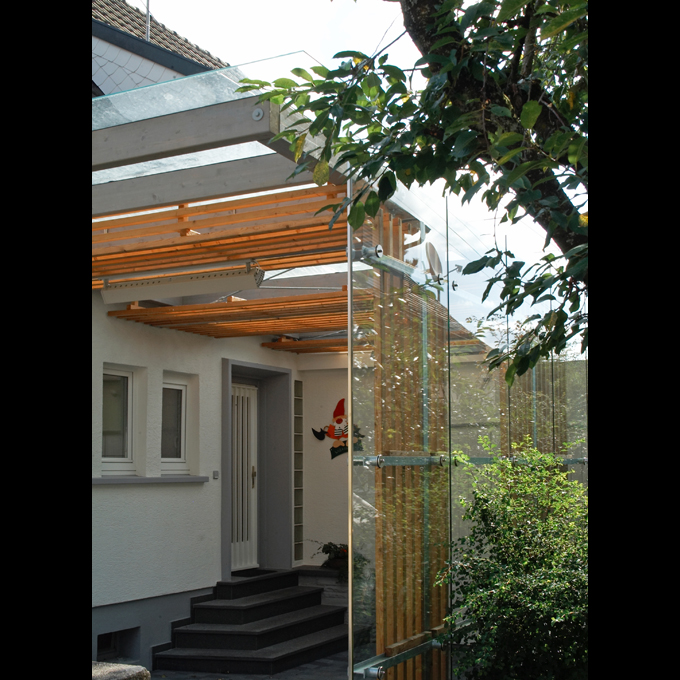 stahl glas carport in sindelfingen mrm a architekt